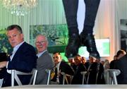 24 September 2018; Former Republic of Ireland manager Jack Charlton, right, and player David O'Leary watch as a tap dancer performs during the Goodbody Jackie's Army Squad Reunion at The K Club, Straffan, in Co. Kildare. Photo by Eóin Noonan/Sportsfile