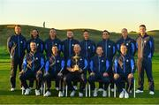 25 September 2018; The European team during the Europe team photocall ahead of the Ryder Cup 2018 Matches at Le Golf National in Paris, France. Photo by Ramsey Cardy/Sportsfile