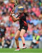 9 September 2018; Paula Gribben of Down during the Liberty Insurance All-Ireland Intermediate Camogie Championship Final match between Cork and Down at Croke Park in Dublin. Photo by Piaras Ó Mídheach/Sportsfile