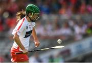 9 September 2018; Finola Neville of Cork during the Liberty Insurance All-Ireland Intermediate Camogie Championship Final match between Cork and Down at Croke Park in Dublin. Photo by Piaras Ó Mídheach/Sportsfile