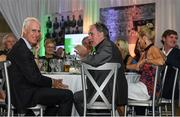24 September 2018; Former Republic of Irleland players Mick McCarthy and Mark Lawrenson during the Goodbody Jackie's Army Squad Reunion at The K Club, Straffan, in Co. Kildare. Photo by Harry Murphy/Sportsfile