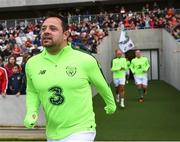 25 September 2018; Andy Reid of Republic of Ireland & Celtic Legends prior to the Liam Miller Memorial match between Manchester United Legends and Republic of Ireland & Celtic Legends at Páirc Uí Chaoimh in Cork. Photo by Stephen McCarthy/Sportsfile