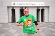 25 September 2018; Brian Redmond from Glenmire, Co. Cork, prior to the Liam Miller Memorial match between Manchester United Legends and Republic of Ireland & Celtic Legends at Páirc Uí Chaoimh in Cork. Photo by David Fitzgerald/Sportsfile