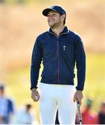 25 September 2018; Singer Niall Horan on the 5th green during the Celebrity Matches prior to the Ryder Cup 2018 Matches at Le Golf National in Paris, France. Photo by Ramsey Cardy/Sportsfile