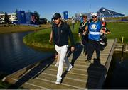 25 September 2018; Singer Niall Horan of Europe walks off the 15th green during the Celebrity Matches prior to the Ryder Cup 2018 Matches at Le Golf National in Paris, France. Photo by Ramsey Cardy/Sportsfile