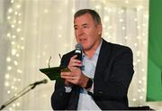 24 September 2018; Former Republic of Ireland player Packie Bonner during the Goodbody Jackie's Army Squad Reunion at The K Club, Straffan, in Co. Kildare. Photo by Eóin Noonan/Sportsfile