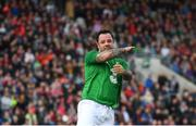 25 September 2018; Andy Reid of Republic of Ireland & Celtic Legends reacts after missing a penalty in a shoot-out during the Liam Miller Memorial match between Manchester United Legends and Republic of Ireland & Celtic Legends at Páirc Uí Chaoimh in Cork. Photo by David Fitzgerald/Sportsfile
