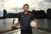 26 September 2018; PwC GAA/GPA Players of the All-Ireland Finals in football, Jack McCaffrey of Dublin, and hurler, Kyle Hayes of Limerick, were on hand to help launch the new PwC All Stars App and pick up their respective awards. Aaron Gillane was also in attendance to receive his hurling award for August. The players were joined by Uachtarán Chumann Lúthcleas Gael, John Horan, Enda Mc Donagh, Partner and Head of Assurance, PwC Ireland, and GPA National Executive Committee member, Colin Moran. The event took place at PwC on Spencer Dock in Dublin. Picured is Dublin footballer Jack McCaffrey. Photo by Piaras Ó Mídheach/Sportsfile
