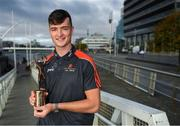 26 September 2018; PwC GAA/GPA Players of the All-Ireland Finals in football, Jack McCaffrey of Dublin, and hurler, Kyle Hayes of Limerick, were on hand to help launch the new PwC All Stars App and pick up their respective awards. Aaron Gillane was also in attendance to receive his hurling award for August. The players were joined by Uachtarán Chumann Lúthcleas Gael, John Horan, Enda Mc Donagh, Partner and Head of Assurance, PwC Ireland, and GPA National Executive Committee member, Colin Moran. The event took place at PwC on Spencer Dock in Dublin. Picured is Limerick hurler Kyle Hayes. Photo by Piaras Ó Mídheach/Sportsfile