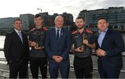 26 September 2018; PwC GAA/GPA Players of the All-Ireland Finals in football, Jack McCaffrey of Dublin, and hurler, Kyle Hayes of Limerick, were on hand to help launch the new PwC All Stars App and pick up their respective awards. Aaron Gillane was also in attendance to receive his hurling award for August. Pictured are, from left, GPA National Executive Committee member Colin Moran, Limerick hurler Kyle Hayes, Uachtarán Chumann Lúthcleas Gael John Horan, Dublin footballer Jack McCaffrey, and Enda Mc Donagh, Partner and Head of Assurance, PwC Ireland. The event took place at PwC on Spencer Dock in Dublin. Photo by Piaras Ó Mídheach/Sportsfile