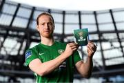 26 September 2018; Hugh Douglas of Bray Wanderers at the launch of the FIFA 19 SSE Airtricity League Club Packs, in the Aviva Stadium, available from https://www.easports.com/uk/fifa/club-packs when the game launches this Friday 28th September! Featuring the individual club crest of all 10 Premier Division teams, €1 will be donated to the Liam Miller fund for every free sleeve download from Friday 28th September – Friday 5th October. Photo by Stephen McCarthy/Sportsfile