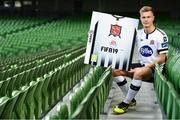 26 September 2018; Daniel Cleary of Dundalk at the launch of the FIFA 19 SSE Airtricity League Club Packs, in the Aviva Stadium, available from https://www.easports.com/uk/fifa/club-packs when the game launches this Friday 28th September! Featuring the individual club crest of all 10 Premier Division teams, €1 will be donated to the Liam Miller fund for every free sleeve download from Friday 28th September – Friday 5th October. Photo by Stephen McCarthy/Sportsfile