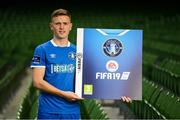 26 September 2018; Killian Brouder of Limerick at the launch of the FIFA 19 SSE Airtricity League Club Packs, in the Aviva Stadium, available from https://www.easports.com/uk/fifa/club-packs when the game launches this Friday 28th September! Featuring the individual club crest of all 10 Premier Division teams, €1 will be donated to the Liam Miller fund for every free sleeve download from Friday 28th September – Friday 5th October. Photo by Stephen McCarthy/Sportsfile