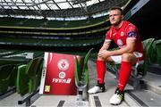 26 September 2018; David Cawley of Sligo Rovers at the launch of the FIFA 19 SSE Airtricity League Club Packs, in the Aviva Stadium, available from https://www.easports.com/uk/fifa/club-packs when the game launches this Friday 28th September! Featuring the individual club crest of all 10 Premier Division teams, €1 will be donated to the Liam Miller fund for every free sleeve download from Friday 28th September – Friday 5th October. Photo by Stephen McCarthy/Sportsfile