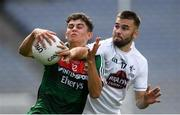 5 August 2018; Tommy Conroy of Mayo is tackled by John O'Toole of Kildare during the EirGrid GAA Football All-Ireland U20 Championship final match between Mayo and Kildare at Croke Park in Dublin. Photo by Piaras Ó Mídheach/Sportsfile