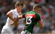 5 August 2018; Conor Diskin of Mayo in action against Mark Glynn of Kildare during the EirGrid GAA Football All-Ireland U20 Championship final match between Mayo and Kildare at Croke Park in Dublin. Photo by Piaras Ó Mídheach/Sportsfile