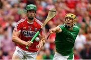 29 July 2018; Séamus Harnedy of Cork in action against Dan Morrissey of Limerick during the GAA Hurling All-Ireland Senior Championship semi-final match between Cork and Limerick at Croke Park in Dublin. Photo by Piaras Ó Mídheach/Sportsfile