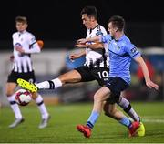 28 September 2018; Jamie McGrath of Dundalk in action against Jason McClelland of UCD during the Irish Daily Mail FAI Cup Semi-Final match between Dundalk and UCD at Oriel Park in Dundalk, Co Louth. Photo by Stephen McCarthy/Sportsfile