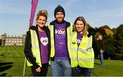 29 September 2018; Vhi staff Adel Coonan, Eoin Ryan and Tracy Rooney in attendance at the Vhi staff takeover at Kilkenny parkrun. Vhi is also announcing a brand new adult parkrun Rewards Programme. Vhi customers can earn free rewards when they take part in adult parkruns across Ireland. Customers can claim their first reward after completing just one parkrun and as they accumulate parkruns they will unlock a variety of different rewards. Rewards include sports towels, LED running lights, phone holders and more. To sign up, participants simply download the Vhi app and scan their parkrun barcode. The Vhi Rewards Programme starts on September 29th and will run for 6 months initially. parkruns take place over a 5km course weekly, are free to enter and are open to all ages and abilities, providing a fun and safe environment to enjoy exercise. To register for a parkrun near you visit www.parkrun.ie. Photo by Harry Murphy/Sportsfile
