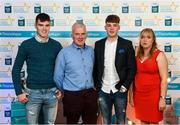 29 September 2018; Conor Whelan of CJ Kickhams, Tipperary, with brother Michael, father Maurice and mother Ber on their arrival at the 2018 Electric Ireland Minor Star Awards. The Hurling/Football Team of the Year was selected by an expert panel of GAA legends including Ollie Canning, Sean Cavanagh, Michael Fennelly and Daniel Goulding. Sponsors of the GAA Minor Championships, Electric Ireland today recognised the talent and dedication of 15 Minor football players, and 15 Minor hurling players at the second annual Electric Ireland Minor Star Awards at Croke Park. #GAAThisIsMajor Photo by Stephen McCarthy/Sportsfile