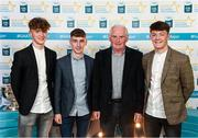 29 September 2018; Galway players, from left, Conor Raftery of Northern Gaels, Matthew Cooley of Corofin, and Tony Gill of Corofin, and Frank Morris on their arrival at the 2018 Electric Ireland Minor Star Awards. The Hurling/Football Team of the Year was selected by an expert panel of GAA legends including Ollie Canning, Sean Cavanagh, Michael Fennelly and Daniel Goulding. Sponsors of the GAA Minor Championships, Electric Ireland today recognised the talent and dedication of 15 Minor football players, and 15 Minor hurling players at the second annual Electric Ireland Minor Star Awards at Croke Park. #GAAThisIsMajor Photo by Stephen McCarthy/Sportsfile
