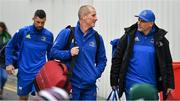 29 September 2018; Leinster senior coach Stuart Lancaster, centre, and backs coach Felipe Contepomi arrive prior to the Guinness PRO14 Round 5 match between Connacht and Leinster at The Sportsground in Galway. Photo by Brendan Moran/Sportsfile