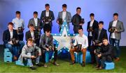 29 September 2018; The Electric Ireland Minor Hurling Team of the Year, back row, from left, Cathal O'Neill of Crecora-Manister, Limerick, Luke Swan of Castleknock, Dublin, Darragh Maher of St. Lachtain's, Kilkenny, Patrick Rabbitte of St. Mary's, Galway, Seán Neary of Castlegar, Galway, Seán Phelan of Nenagh Eire OG, Tipperary, Jamie Young of O'Loughlin Gaels, Kilkenny, and front row, from left, Shane Jennings of Ballinasloe, Galway, Ciarán Brennan of Bennettsbridge, Kilkenny, James Devaney of Borris-Ileigh, Tipperary, Conor Kelly of O'Loughlin Gaels, Kilkenny, Donal O'Shea of Salthill/Knocknacarra, Galway, Donal Leavy of Naomh Olaf, Dublin, and Dean Reilly of Pádraig Pearses, Galway, at the 2018 Electric Ireland Minor Star Awards. The Hurling Team of the Year was selected by an expert panel of GAA legends including Ollie Canning, Sean Cavanagh, Michael Fennelly and Daniel Goulding. Sponsors of the GAA Minor Championships, Electric Ireland today recognised the talent and dedication of 15 Minor football players, and 15 Minor hurling players at the second annual Electric Ireland Minor Star Awards at Croke Park. #GAAThisIsMajor Photo by Sam Barnes/Sportsfile
