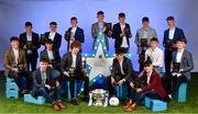 29 September 2018; The Electric Ireland Minor Football Team of the Year, back row, from left, Eoin Darcy of Tinahely, Wicklow, Mark Lavin of Lucan Sarsfields, Dublin, Ronan Grimes of Killanny, Monaghan, Conor Raftery of Northern Gaels, Galway, Colm Moriarty of Annascaul, Kerry, Luke Mitchell of Dunshaughlin, Meath, Matthew Costello of Dunshaughlin, Meath, and front row from left, Tony Gill of Corofin, Galway, Matthew Cooley of Corofin, Galway, Aaron Mulligan of Latton, Monaghan, Paul Walsh of Brosna, Kerry, Darragh Rahilly of Rathmore, Kerry, Owen Fitzgerald of Gneeveguilla, Kerry, John Ball of Clane, Kildare and Tiarnan Woods of Drumsurn, Derry, at the 2018 Electric Ireland Minor Star Awards. The Football Team of the Year was selected by an expert panel of GAA legends including Ollie Canning, Sean Cavanagh, Michael Fennelly and Daniel Goulding. Sponsors of the GAA Minor Championships, Electric Ireland today recognised the talent and dedication of 15 Minor football players, and 15 Minor hurling players at the second annual Electric Ireland Minor Star Awards at Croke Park. #GAAThisIsMajor Photo by Sam Barnes/Sportsfile