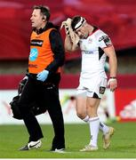 29 September 2018; John Cooney of Ulster leaves the field due to injury during the Guinness PRO14 Round 5 match between Munster and Ulster at Thomond Park in Limerick. Photo by John Dickson/Sportsfile