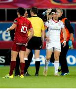 29 September 2018; John Cooney of Ulster after suffering an injury, which resulted in him having to be substituted, during the Guinness PRO14 Round 5 match between Munster and Ulster at Thomond Park in Limerick. Photo by John Dickson/Sportsfile