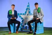 29 September 2018; Matthew Costello of Dunshaughlin, Meath, and Luke Mitchell of Dunshaughlin, Meath, with their Minor Football Team of the Year Awards at the 2018 Electric Ireland Minor Star Awards. The Hurling and Football Team of the Year was selected by an expert panel of GAA legends including Ollie Canning, Sean Cavanagh, Michael Fennelly and Daniel Goulding. Sponsors of the GAA Minor Championships, Electric Ireland today recognised the talent and dedication of 15 Minor football players, and 15 Minor hurling players at the second annual Electric Ireland Minor Star Awards at Croke Park. #GAAThisIsMajor Photo by Sam Barnes/Sportsfile