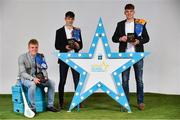 29 September 2018;  James Devaney of Borris-Ileigh, Tipperary, Seán Phelan of Nenagh Eire OG, Tipperary, and Conor Whelan of CJ Kickhams, Tipperary with their Minor Hurling Team of the Year Awards at the 2018 Electric Ireland Minor Star Awards. The Hurling and Football Team of the Year was selected by an expert panel of GAA legends including Ollie Canning, Sean Cavanagh, Michael Fennelly and Daniel Goulding. Sponsors of the GAA Minor Championships, Electric Ireland today recognised the talent and dedication of 15 Minor football players, and 15 Minor hurling players at the second annual Electric Ireland Minor Star Awards at Croke Park. #GAAThisIsMajor Photo by Sam Barnes/Sportsfile
