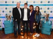 29 September 2018; Ciarán Brennan of Bennettsbridge, Kilkenny, with family, from left, Paul, Clare and Luci on their arrival at the 2018 Electric Ireland Minor Star Awards. The Hurling/Football Team of the Year was selected by an expert panel of GAA legends including Ollie Canning, Sean Cavanagh, Michael Fennelly and Daniel Goulding. Sponsors of the GAA Minor Championships, Electric Ireland today recognised the talent and dedication of 15 Minor football players, and 15 Minor hurling players at the second annual Electric Ireland Minor Star Awards at Croke Park. #GAAThisIsMajor Photo by Stephen McCarthy/Sportsfile