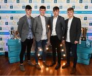 29 September 2018; Kilkenny hurlers, from left, Conor Kelly of O'Loughlin Gaels, Jamie Young of O'Loughlin Gaels, Darragh Maher of St. Lachtain's, and Ciarán Brennan of Bennettsbridge, on their arrival at the 2018 Electric Ireland Minor Star Awards. The Hurling/Football Team of the Year was selected by an expert panel of GAA legends including Ollie Canning, Sean Cavanagh, Michael Fennelly and Daniel Goulding. Sponsors of the GAA Minor Championships, Electric Ireland today recognised the talent and dedication of 15 Minor football players, and 15 Minor hurling players at the second annual Electric Ireland Minor Star Awards at Croke Park. #GAAThisIsMajor Photo by Stephen McCarthy/Sportsfile