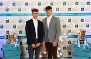 29 September 2018; Mark Lavin of Lucan Sarsfields, left, and Luke Swan of Castleknock, on their arrival at the 2018 Electric Ireland Minor Star Awards. The Hurling/Football Team of the Year was selected by an expert panel of GAA legends including Ollie Canning, Sean Cavanagh, Michael Fennelly and Daniel Goulding. Sponsors of the GAA Minor Championships, Electric Ireland today recognised the talent and dedication of 15 Minor football players, and 15 Minor hurling players at the second annual Electric Ireland Minor Star Awards at Croke Park. #GAAThisIsMajor Photo by Stephen McCarthy/Sportsfile