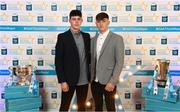 29 September 2018; Dublin's Donal Leavy of Naomh Olaf, left, and Luke Swan of Castleknock, on their arrival at the 2018 Electric Ireland Minor Star Awards. The Hurling/Football Team of the Year was selected by an expert panel of GAA legends including Ollie Canning, Sean Cavanagh, Michael Fennelly and Daniel Goulding. Sponsors of the GAA Minor Championships, Electric Ireland today recognised the talent and dedication of 15 Minor football players, and 15 Minor hurling players at the second annual Electric Ireland Minor Star Awards at Croke Park. #GAAThisIsMajor Photo by Stephen McCarthy/Sportsfile