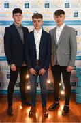 29 September 2018; Dublin hurlers, from left, Donal Leavy of Naomh Olaf, Mark Lavin of Lucan Sarsfields, and Luke Swan of Castleknock, on their arrival at the 2018 Electric Ireland Minor Star Awards. The Hurling/Football Team of the Year was selected by an expert panel of GAA legends including Ollie Canning, Sean Cavanagh, Michael Fennelly and Daniel Goulding. Sponsors of the GAA Minor Championships, Electric Ireland today recognised the talent and dedication of 15 Minor football players, and 15 Minor hurling players at the second annual Electric Ireland Minor Star Awards at Croke Park. #GAAThisIsMajor Photo by Stephen McCarthy/Sportsfile