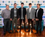 29 September 2018; Dublin hurlers, from left, Donal Leavy of Naomh Olaf, and Luke Swan of Castleknock, with Conor Gray, Aodhán de Paor and Sean Power on their arrival at the 2018 Electric Ireland Minor Star Awards. The Hurling/Football Team of the Year was selected by an expert panel of GAA legends including Ollie Canning, Sean Cavanagh, Michael Fennelly and Daniel Goulding. Sponsors of the GAA Minor Championships, Electric Ireland today recognised the talent and dedication of 15 Minor football players, and 15 Minor hurling players at the second annual Electric Ireland Minor Star Awards at Croke Park. #GAAThisIsMajor Photo by Stephen McCarthy/Sportsfile