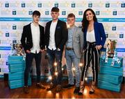 29 September 2018; Tipperary hurlers, from left, Seán Phelan of Nenagh Eire OG, Conor Whelan of CJ Kickhams, and James Devaney of Borris-Ileigh, with Lauren Guilfoyle on their arrival at the 2018 Electric Ireland Minor Star Awards. The Hurling/Football Team of the Year was selected by an expert panel of GAA legends including Ollie Canning, Sean Cavanagh, Michael Fennelly and Daniel Goulding. Sponsors of the GAA Minor Championships, Electric Ireland today recognised the talent and dedication of 15 Minor football players, and 15 Minor hurling players at the second annual Electric Ireland Minor Star Awards at Croke Park. #GAAThisIsMajor Photo by Stephen McCarthy/Sportsfile
