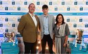 29 September 2018; Luke Mitchell of Dunshaughlin, Meath, with his parents Jim and Sandra on their arrival at the 2018 Electric Ireland Minor Star Awards. The Hurling/Football Team of the Year was selected by an expert panel of GAA legends including Ollie Canning, Sean Cavanagh, Michael Fennelly and Daniel Goulding. Sponsors of the GAA Minor Championships, Electric Ireland today recognised the talent and dedication of 15 Minor football players, and 15 Minor hurling players at the second annual Electric Ireland Minor Star Awards at Croke Park. #GAAThisIsMajor Photo by Stephen McCarthy/Sportsfile
