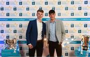 29 September 2018; Matthew Costello of Dunshaughlin, Meath, left, and Luke Mitchell of Dunshaughlin, Meath, on their arrival at the 2018 Electric Ireland Minor Star Awards. The Hurling/Football Team of the Year was selected by an expert panel of GAA legends including Ollie Canning, Sean Cavanagh, Michael Fennelly and Daniel Goulding. Sponsors of the GAA Minor Championships, Electric Ireland today recognised the talent and dedication of 15 Minor football players, and 15 Minor hurling players at the second annual Electric Ireland Minor Star Awards at Croke Park. #GAAThisIsMajor Photo by Stephen McCarthy/Sportsfile