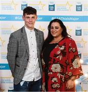 29 September 2018; Jamie Young of O'Loughlin Gaels, Kilkenny, and Michelle Young on their arrival at the 2018 Electric Ireland Minor Star Awards. The Hurling/Football Team of the Year was selected by an expert panel of GAA legends including Ollie Canning, Sean Cavanagh, Michael Fennelly and Daniel Goulding. Sponsors of the GAA Minor Championships, Electric Ireland today recognised the talent and dedication of 15 Minor football players, and 15 Minor hurling players at the second annual Electric Ireland Minor Star Awards at Croke Park. #GAAThisIsMajor Photo by Stephen McCarthy/Sportsfile