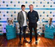 29 September 2018; Jamie Young of O'Loughlin Gaels, Kilkenny, and Sheamus Cummins on their arrival at the 2018 Electric Ireland Minor Star Awards. The Hurling/Football Team of the Year was selected by an expert panel of GAA legends including Ollie Canning, Sean Cavanagh, Michael Fennelly and Daniel Goulding. Sponsors of the GAA Minor Championships, Electric Ireland today recognised the talent and dedication of 15 Minor football players, and 15 Minor hurling players at the second annual Electric Ireland Minor Star Awards at Croke Park. #GAAThisIsMajor Photo by Stephen McCarthy/Sportsfile