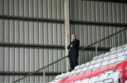 30 September 2018; Cork City manager John Caulfield prior to the Irish Daily Mail FAI Cup Semi-Final match between Bohemians and Cork City at Dalymount Park in Dublin. Photo by Stephen McCarthy/Sportsfile
