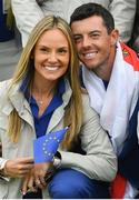 30 September 2018; Rory McIlroy of Europe and his wife Erica celebrate after winning the Ryder Cup following the Ryder Cup 2018 Matches at Le Golf National in Paris, France. Photo by Ramsey Cardy/Sportsfile