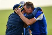 30 September 2018; Ian Poulter of Europe and his son Luke, left, celebrate winning the Ryder Cup following the Ryder Cup 2018 Matches at Le Golf National in Paris, France. Photo by Ramsey Cardy/Sportsfile