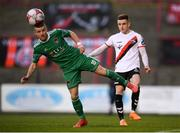 30 September 2018; Steven Beattie of Cork City /iuaa Daragh Leahy of Bohemians during the Irish Daily Mail FAI Cup Semi-Final match between Bohemians and Cork City at Dalymount Park in Dublin. Photo by Stephen McCarthy/Sportsfile