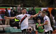 30 September 2018; Dinny Corcoran of Bohemians celebrates with his team-mate Keith Ward, right, celebrates after scoring his side's first goal during the Irish Daily Mail FAI Cup Semi-Final match between Bohemians and Cork City at Dalymount Park in Dublin. Photo by Stephen McCarthy/Sportsfile