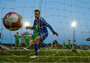 30 September 2018; Cork City goalkeeper Mark McNulty after conceeding a goal during the Irish Daily Mail FAI Cup Semi-Final match between Bohemians and Cork City at Dalymount Park in Dublin. Photo by Stephen McCarthy/Sportsfile