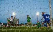 30 September 2018; Dinny Corcoran of Bohemians scores his side's goal during the Irish Daily Mail FAI Cup Semi-Final match between Bohemians and Cork City at Dalymount Park in Dublin. Photo by Stephen McCarthy/Sportsfile